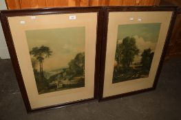 PAIR OF 20TH CENTURY LITHOGRAPHS,