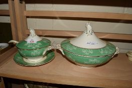 TUREEN AND COVER PLUS ONE OTHER TUREEN WITH STAND