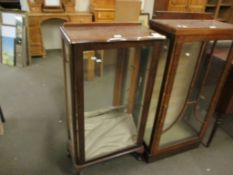 20TH CENTURY GLAZED DISPLAY CABINET, 56CM WIDE