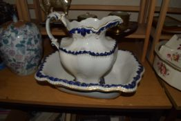VICTORIAN WASH BASIN AND JUG