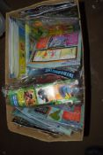 BOX CONTAINING QUANTITY OF REAL ROBOT MAGAZINES AND GAMES