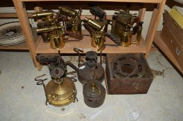 NUMBER OF BRASS BLOW LAMPS