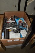 BOX CONTAINING MIXED TAPES ETC