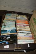 BOX CONTAINING QUANTITY OF PAPERBACK TITLES