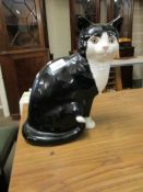 """POTTERY MODEL OF A CAT BY """"JUST CATS & CO"""", 29CM HIGH"""