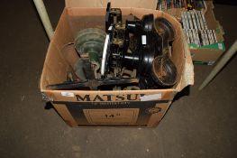 BOX CONTAINING VARIOUS METAL WEIGHING MACHINES