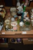 CHINA ITEMS MADE BY CROWN STAFFORDSHIRE ETC, INCLUDING SOME GLASS WARES