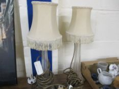 TWO SIDE LAMPS WITH SHADES