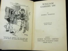 RICHMAL CROMPTON: WILLIAM CARRIES ON, London, George Newnes, 1942, 1st edition, original green