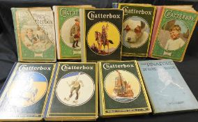 CHATTERBOX, 1921-23, 1927-30, 8 vols, mixed condition, 4to, original cloth backed pictorial boards +