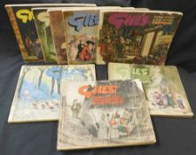 CARL GILES: CARTOON ANNUALS, [1946-54], 1st to 8th series, oblong, 4to, original pictorial wraps but