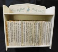 "BEATRIX POTTER: SET OF 23 TITLES, ND, all bar one with d/ws, housed in ""Peter Rabbit's Bookshelf"" ("