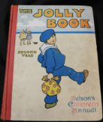 THE JOLLY BOOK, NELSON'S CHILDREN'S ANNUAL, [1911], vol 2, 4to, original cloth backed pictorial