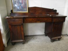 19TH CENTURY MAHOGANY TWIN PEDESTAL SIDEBOARD, 178CM WIDE