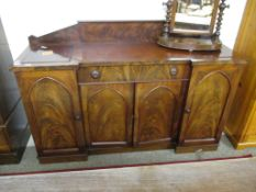 19TH CENTURY MAHOGANY BREAK FRONT SIDEBOARD, 170CM WIDE