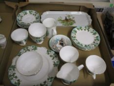 TRAY CONTAINING TEA WARES BY MONTROSE