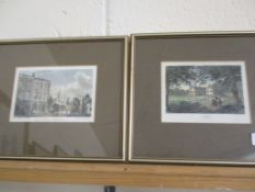 TWO PRINTS, ONE OF COSTESSEY HALL, NORFOLK, THE OTHER OF SHOREDITCH CHURCH