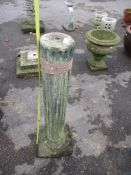 COMPOSITION MOULDED FLUTED COLUMN, HEIGHT APPROX 84CM