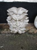 COMPOSITION MOULDED WALL MASK, HEIGHT APPROX 40CM