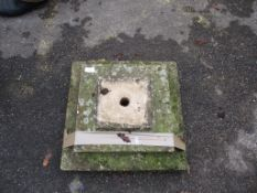 MOULDED SQUARE BASE, APPROX 46CM