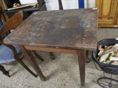 OAK RECTANGULAR SIDE TABLE ON TAPERED LEGS, 76CM WIDE