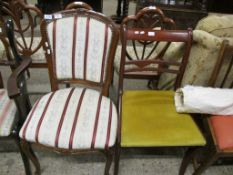 TWO REPRODUCTION MAHOGANY DINING CHAIRS