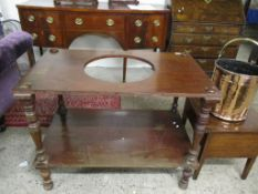 MAHOGANY TWO-TIER WASH STAND, 102.5CM WIDE