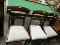 THREE VICTORIAN BAR BACK DINING CHAIRS