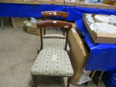 PAIR OF REGENCY BAR BACK DINING CHAIRS