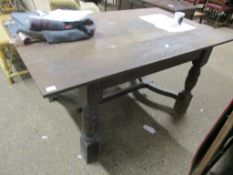OAK REFECTORY STYLE DINING TABLE, 154CM WIDE