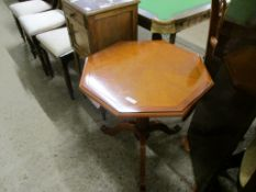 REPRODUCTION OCTAGONAL TOPPED PEDESTAL TABLE, 58CM WIDE