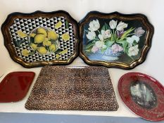 Quantity of decorative trays and plates etc (Condition: all from house clearance so all with general
