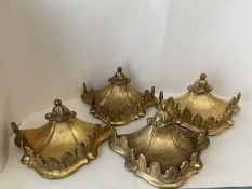 Set of 4 Good quality decorative gilded wall brackets, provenance: Christies Lot 480 The Melb