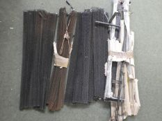 Qty of fireplace metal curtains and rails
