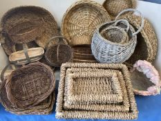 A quantity of various baskets (Condition: all from Country House clearance so all with general wear)