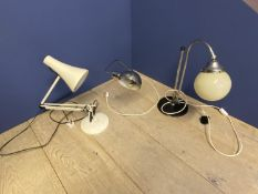 3 vintage Angle Poise desk lamps CONDITION: general wear