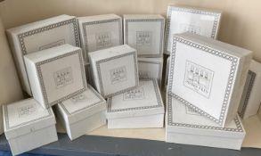 """PIERRE FREY, PARIS, """"Les Trophies""""; Porcelain de Limoges: a large quantity of boxed items, 6"""