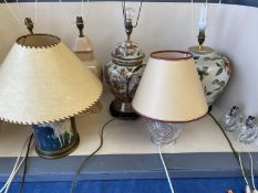 Qty of decorative lamps & shades