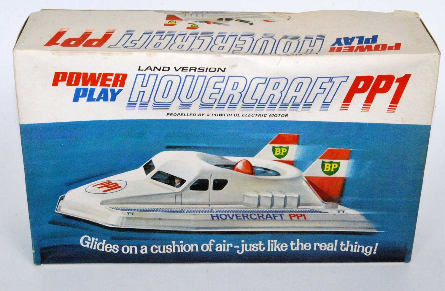 Lot 3162 - A Power Play boxed plastic and motorised model of a land version Hovercraft PP1, powered via a