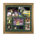 Usain Bolt Signed Photo Montage Usain Bolt is widely regarded as the greatest sprinter of all