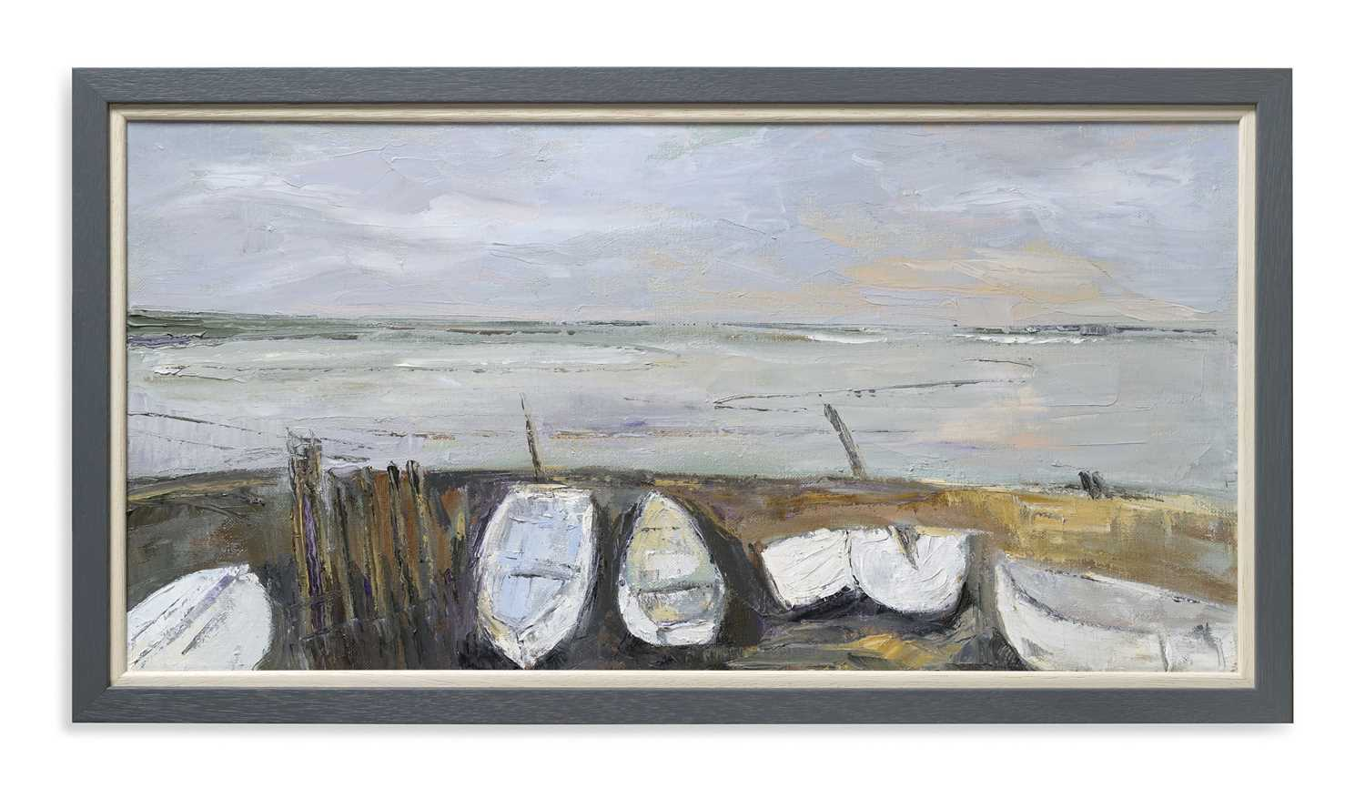 Cris Coe Painting Boats at Felixstowe Ferry, Suffolk   To the north of Felixstowe is the tiny