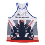 Signed Dame Jessica Ennis-Hill 2016 Team GB Rio Olympics Games Vest Olympic and triple world