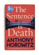Signed Anthony Horowitz Bestselling Crime Novel The Sentence Is Death   New York Times-bestselling