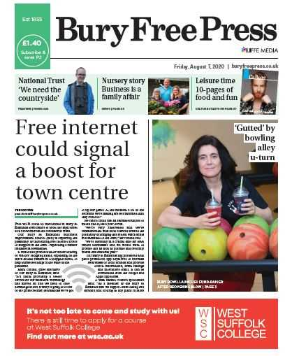 Double-Page Spread Advertisement in The Bury Free Press An opportunity to promote your business to