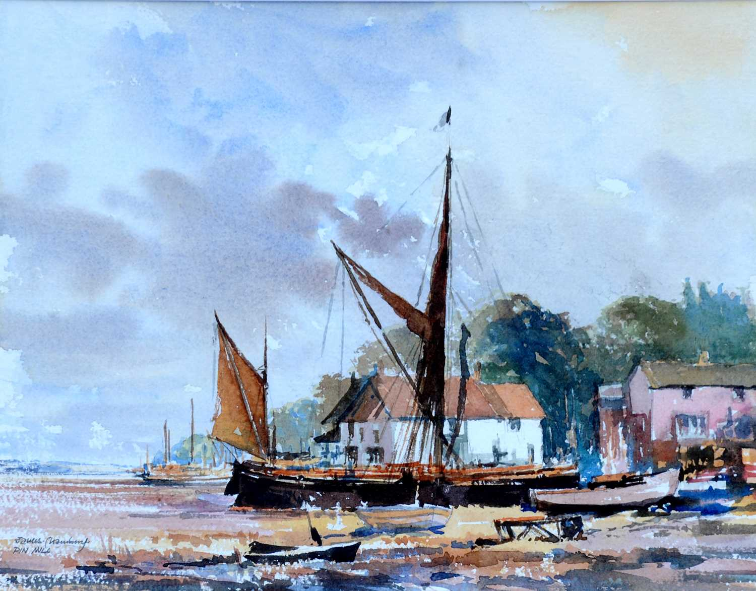 Pin Mill -Watercolour by James Chambury Original watercolour, accompanied by a hardback book James