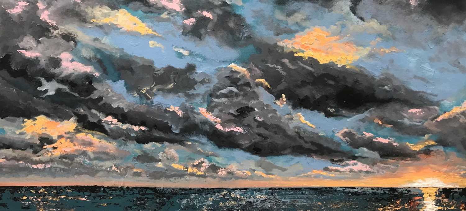 Lydia Brooks Painting I Wanna Spend the Rest of My Sunsets with You 2020 Lydia Brooks is renowned