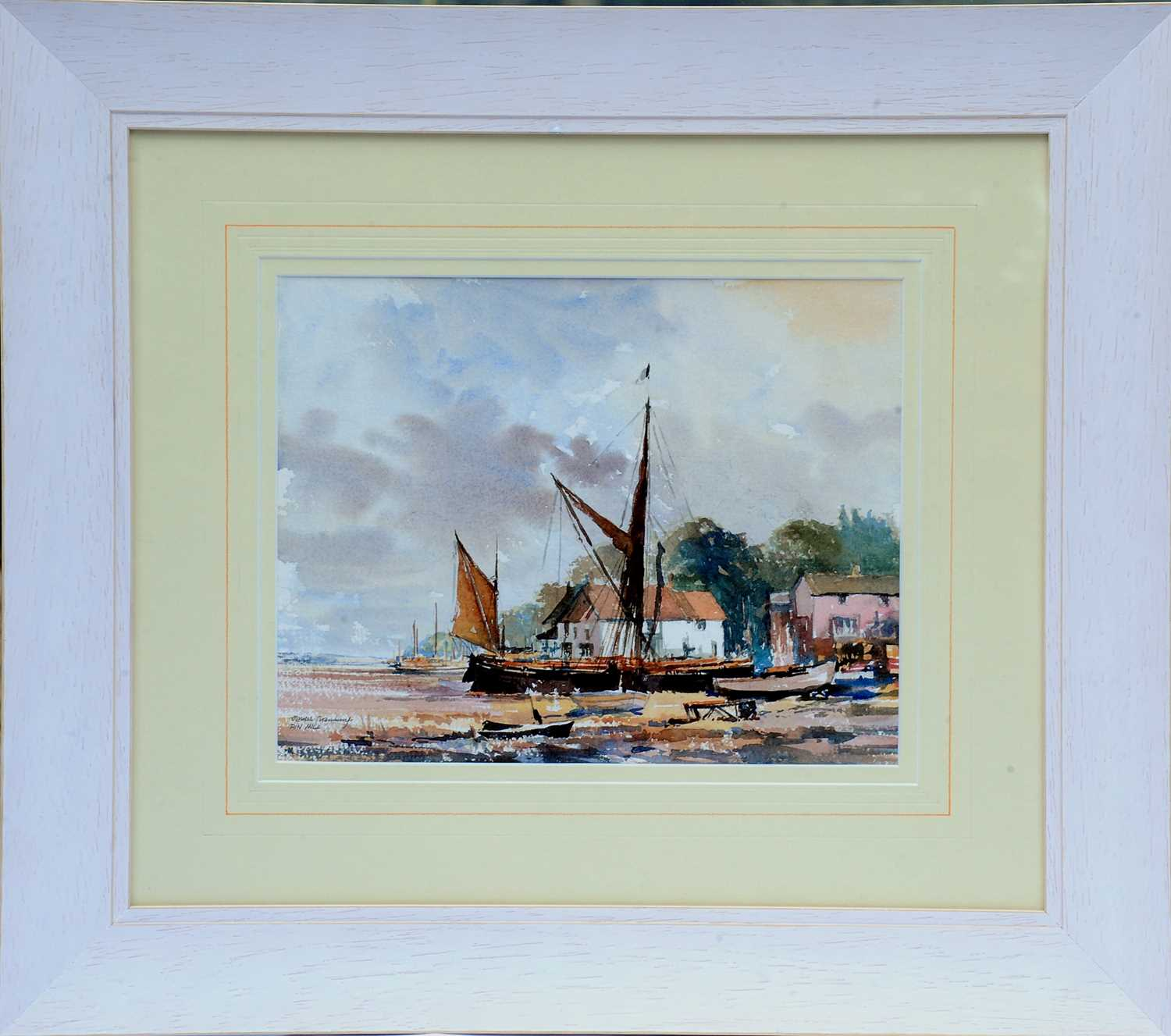 Pin Mill -Watercolour by James Chambury Original watercolour, accompanied by a hardback book James - Image 3 of 3