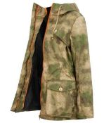 A Superb Troy London Pop Wax Parka in Camo  A Troy London lightweight, pop wax parka in on-trend