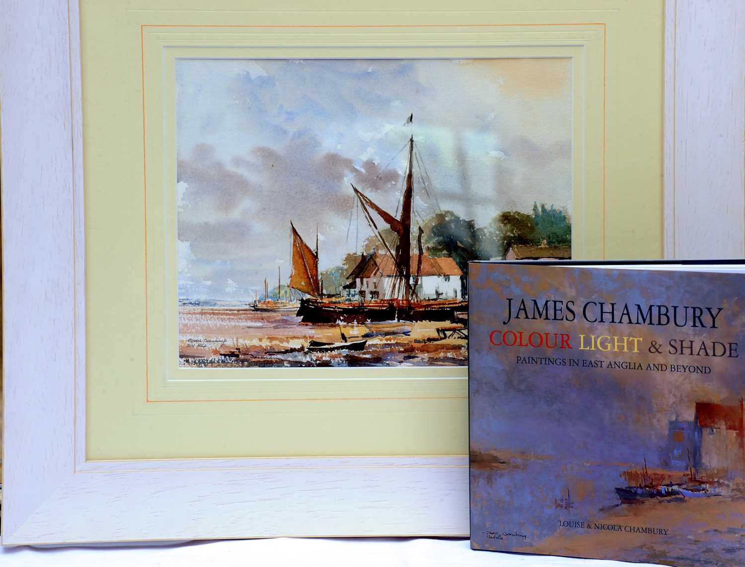 Pin Mill -Watercolour by James Chambury Original watercolour, accompanied by a hardback book James - Image 2 of 3