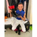 Signed Frankie Dettori MBE Riding Boots, Worn in the Historic King George VI Race at Ascot in 2020
